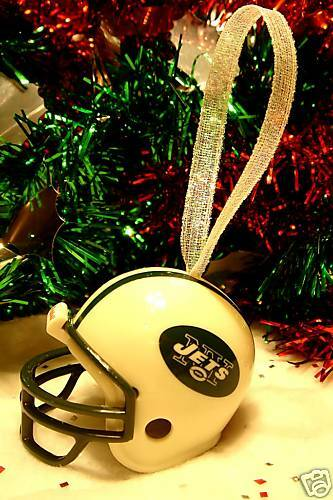 hot new christmas bell football helmet ornament new york jets ring in the holiday season great gift