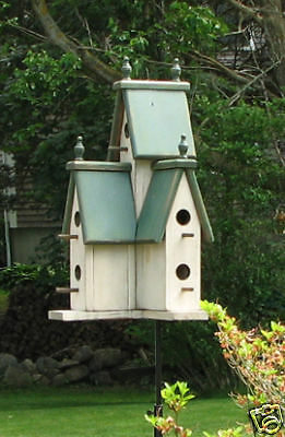 Hunter- GREEN Large Wooden  VICTORIAN BIRDHOUSE-2015-MAY Wooden Creations
