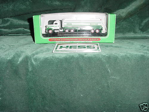 1998 Hess Mini Miniature Tanker Truck MIB 1st Year  98